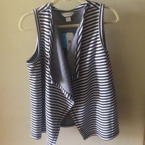Christopher&Banks versatile navy/white striped top
